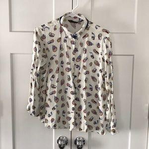 Zara Owl button down size Large